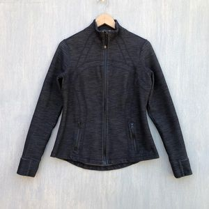 Lululemon Define Jacket slub denim black 12